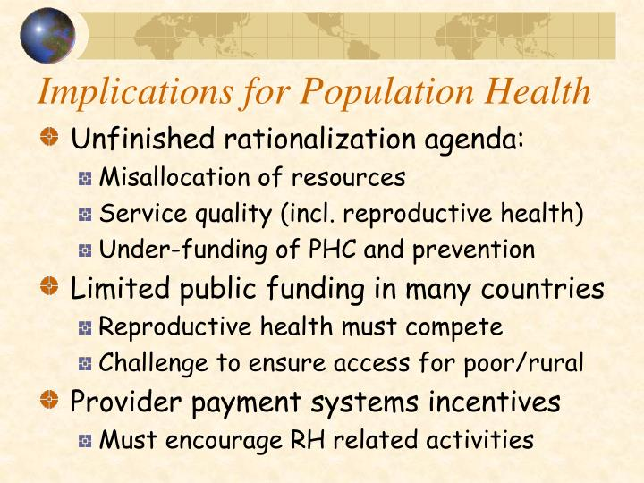 Implications for Population Health