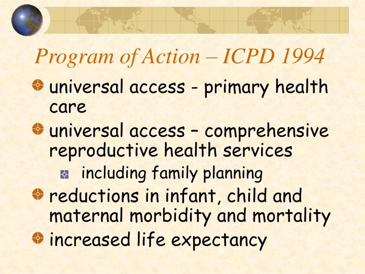 Program of action icpd 1994