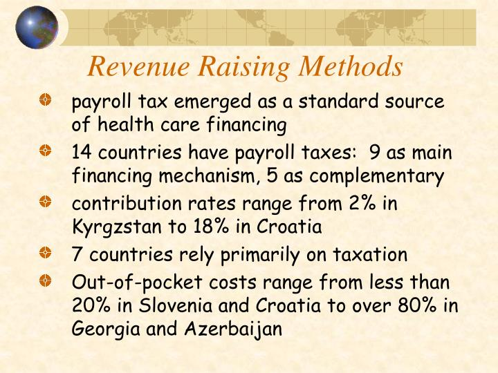 Revenue Raising Methods