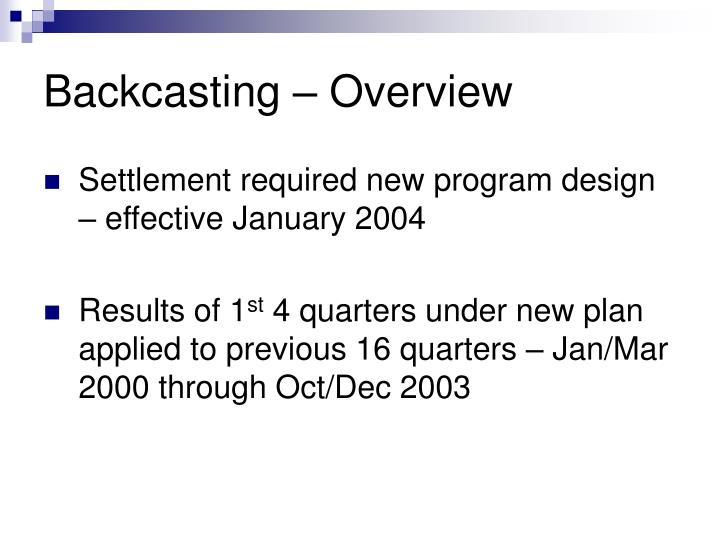Backcasting – Overview