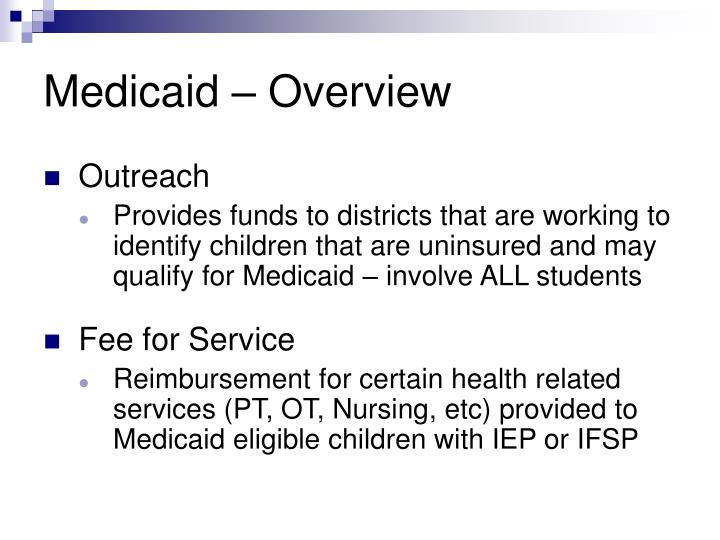 Medicaid – Overview