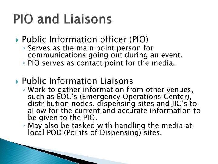 PIO and Liaisons