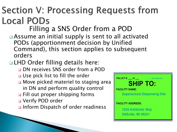 Section V: Processing Requests from Local PODs