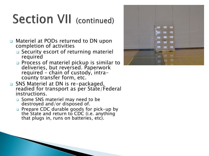 Section VII