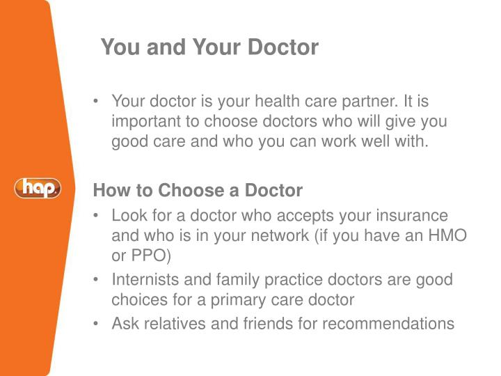 You and Your Doctor