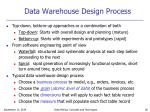 data warehouse design process