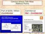 census versus tele atlas address points