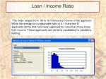 loan income ratio