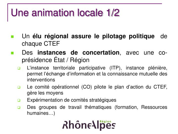 Une animation locale 1/2