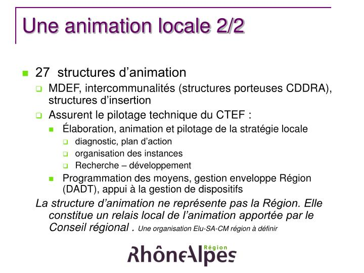 Une animation locale 2/2