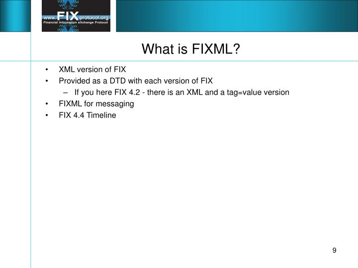 What is FIXML?