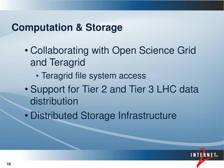 Computation & Storage