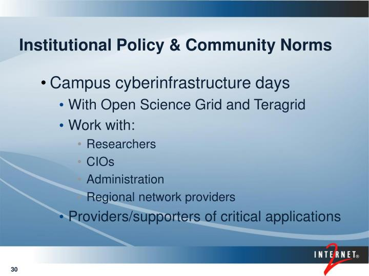 Institutional Policy & Community Norms