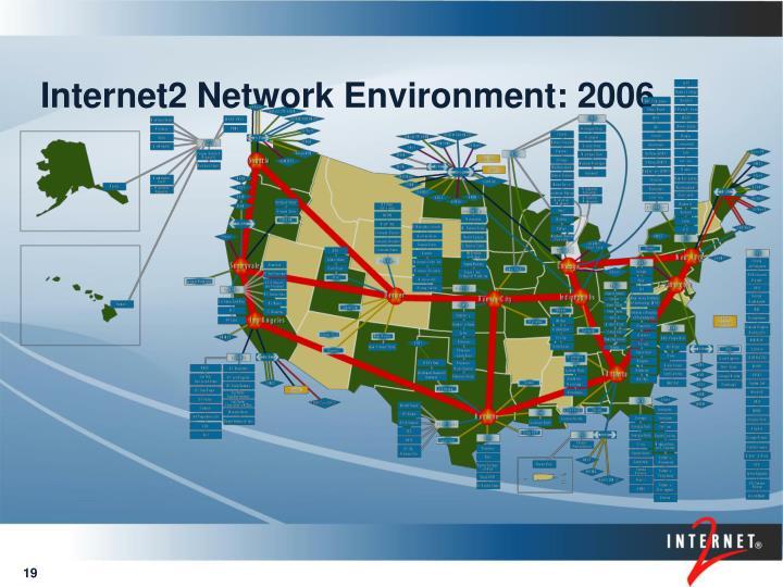 Internet2 Network Environment: 2006