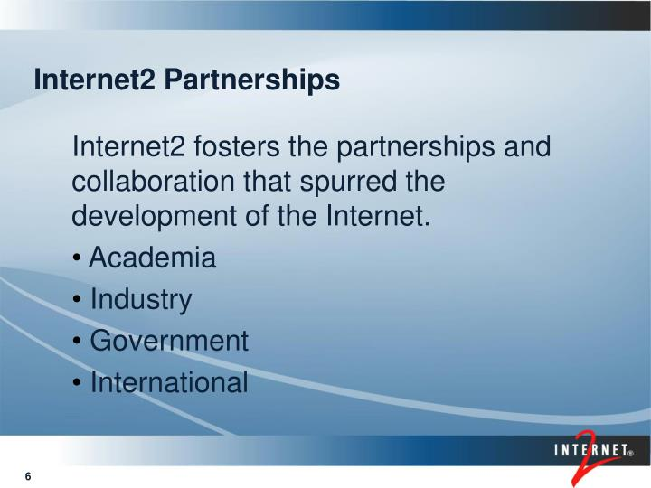 Internet2 Partnerships