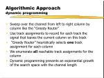 algorithmic approach dynamic programming