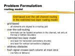 problem formulation routing model