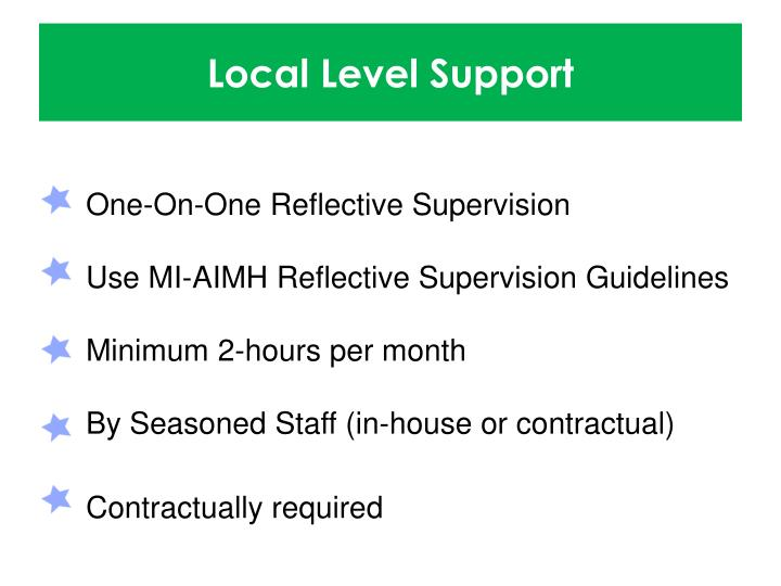 Local Level Support