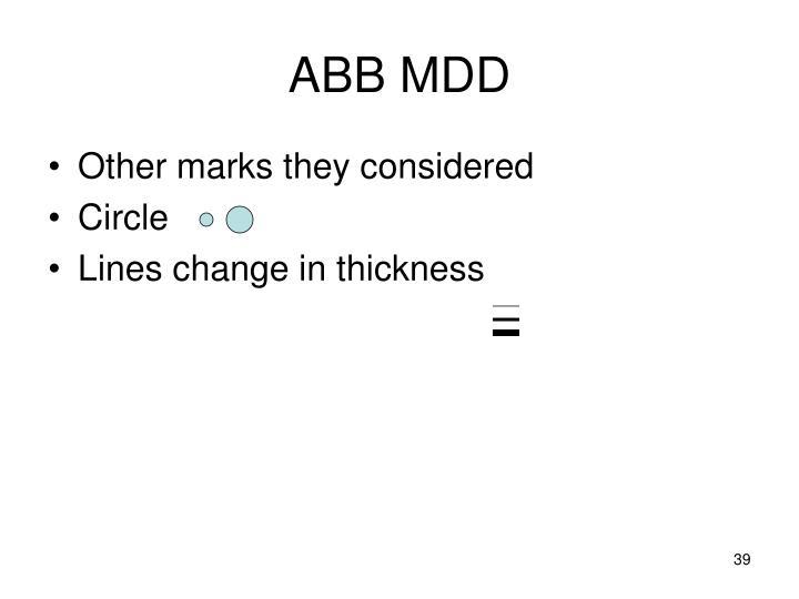 ABB MDD