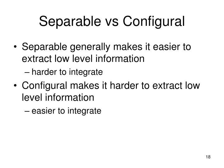 Separable vs Configural