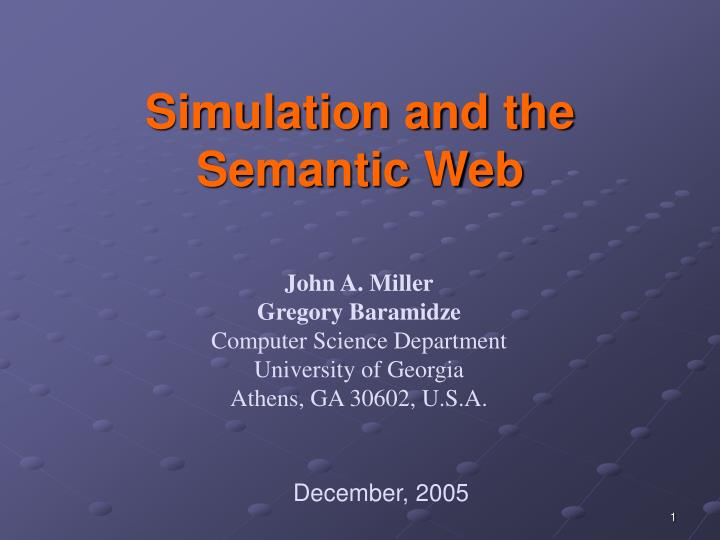 Simulation and the semantic web