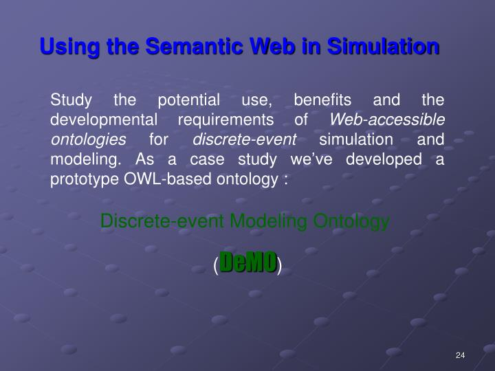 Using the Semantic Web in Simulation