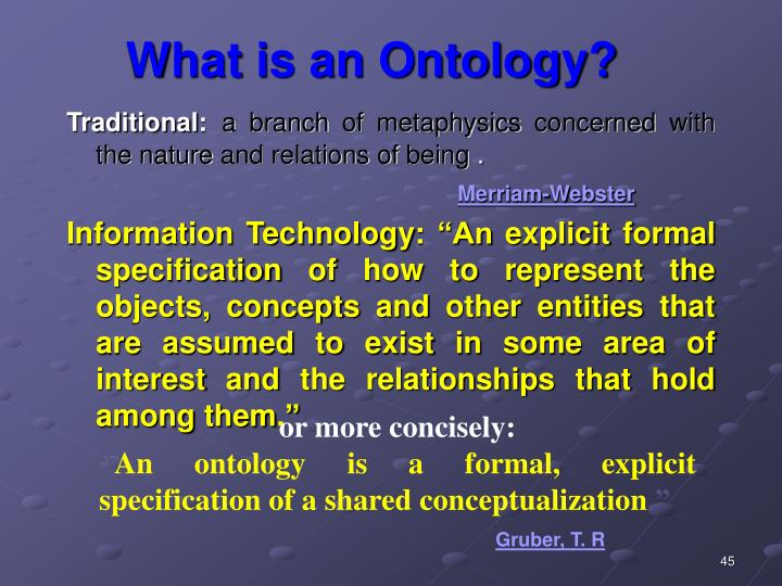 What is an Ontology?