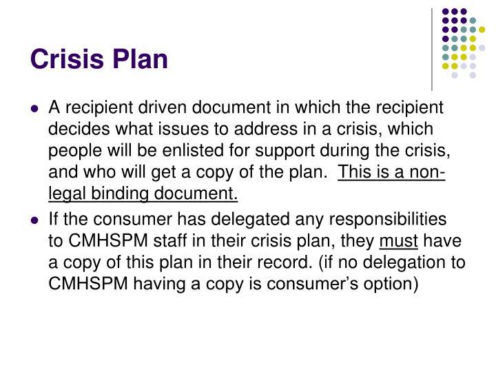 Crisis Plan