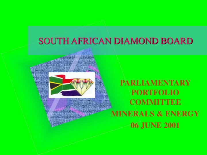 south african diamond board