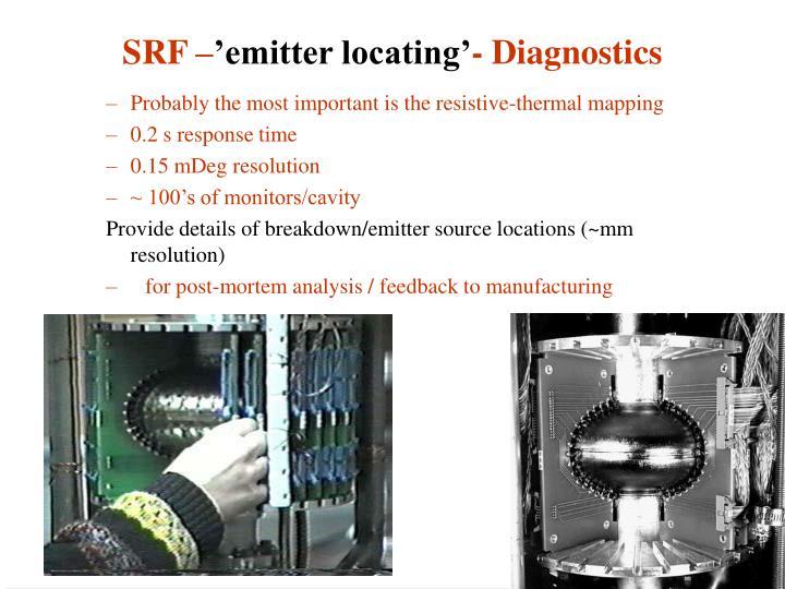 Srf emitter locating diagnostics