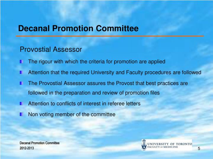 Decanal Promotion Committee