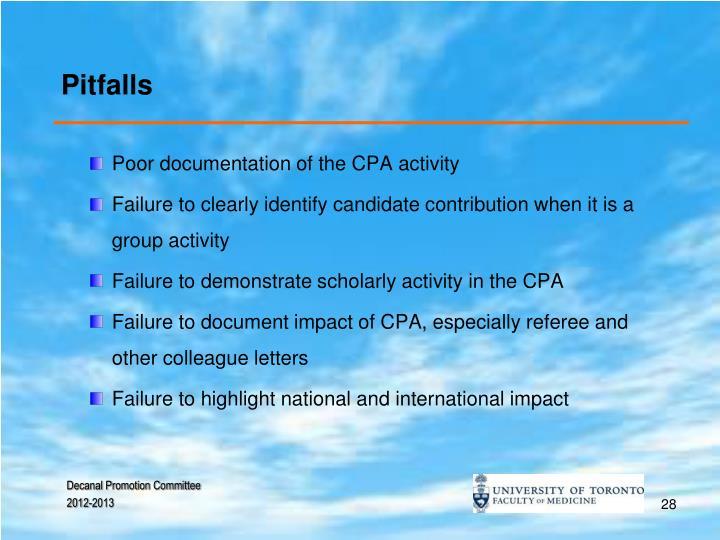 Pitfalls