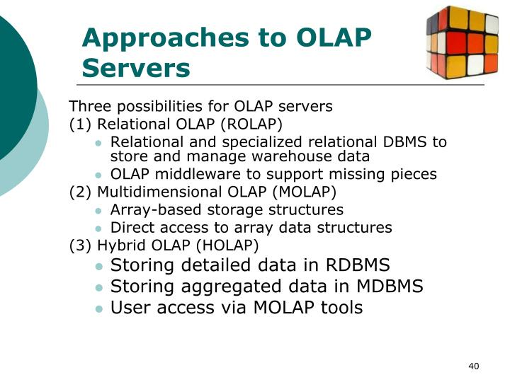 Approaches to OLAP Servers