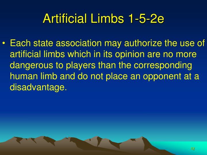 Artificial Limbs 1-5-2e