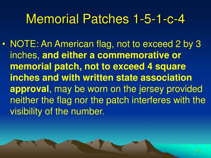Memorial Patches 1-5-1-c-4