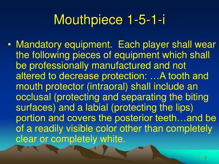 Mouthpiece 1-5-1-i