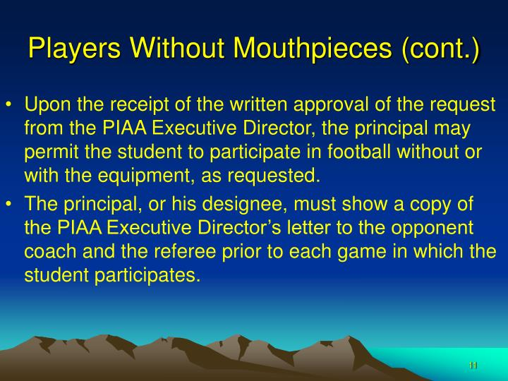 Players Without Mouthpieces (cont.)