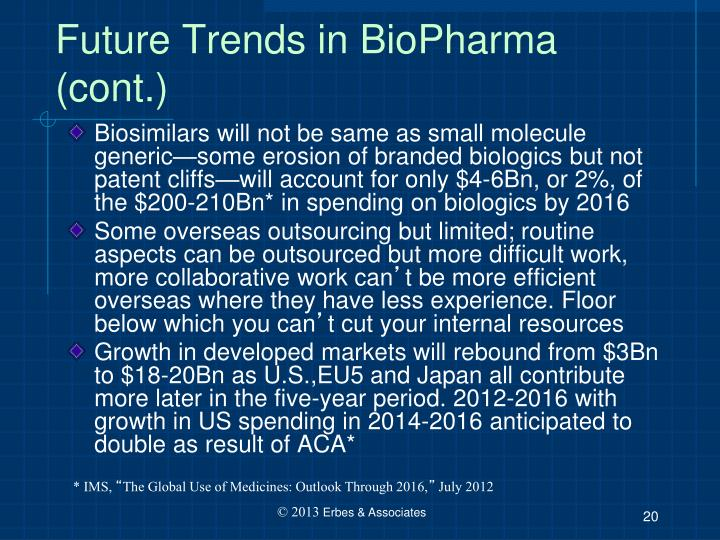 Future Trends in BioPharma (cont.)