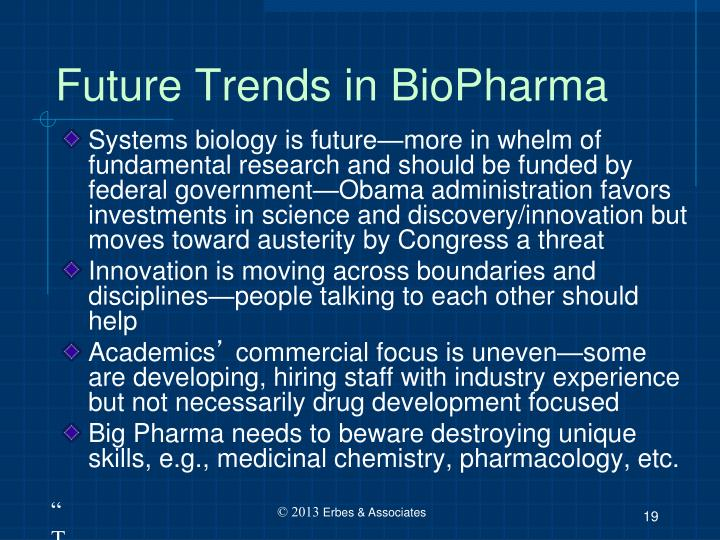 Future Trends in BioPharma