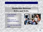 similarities between d o s and m ds