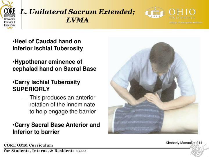 L. Unilateral Sacrum Extended; LVMA