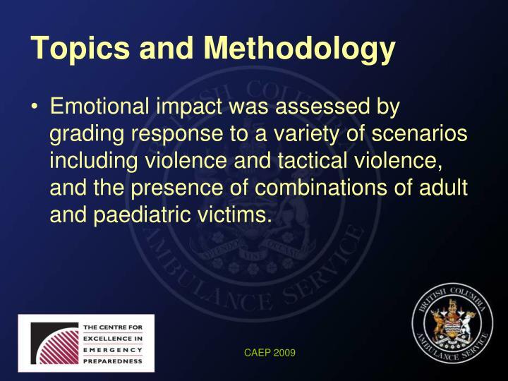 Topics and Methodology