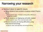 narrowing your research