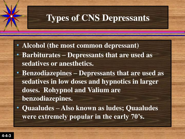 Types of CNS Depressants