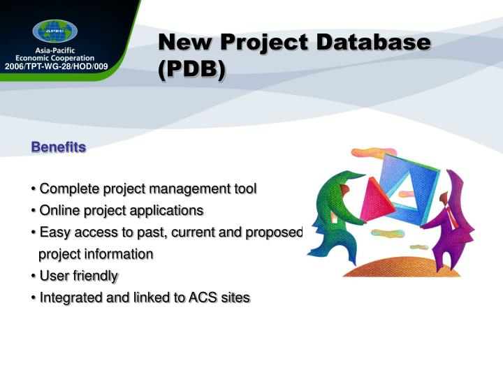 New Project Database (PDB)