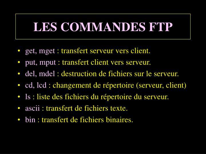 LES COMMANDES FTP