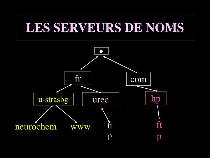 LES SERVEURS DE NOMS