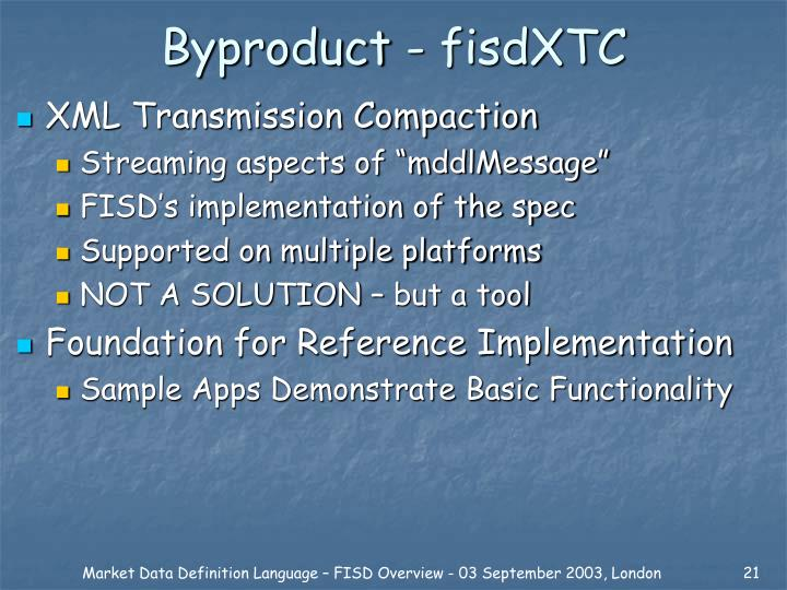Byproduct - fisdXTC