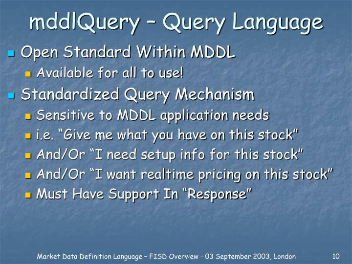 mddlQuery – Query Language