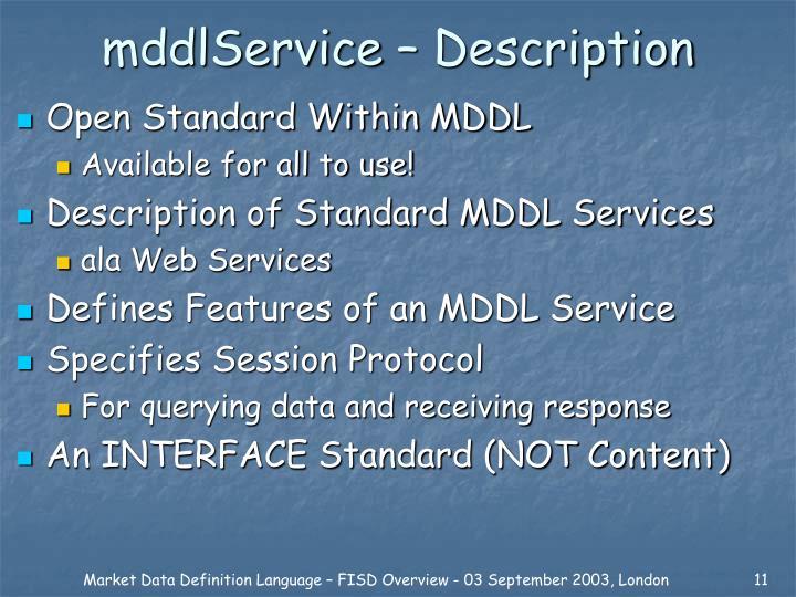 mddlService – Description